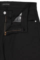 Button closure and zip detail image of S.M.N. Hunter Black Wash