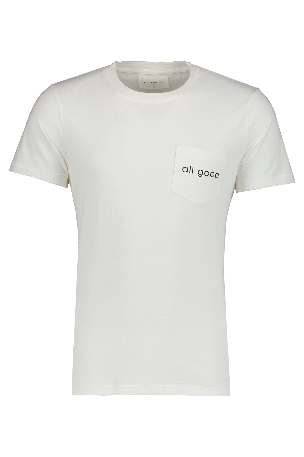 Front Image Of Sol Angeles All Good Pocket Tee