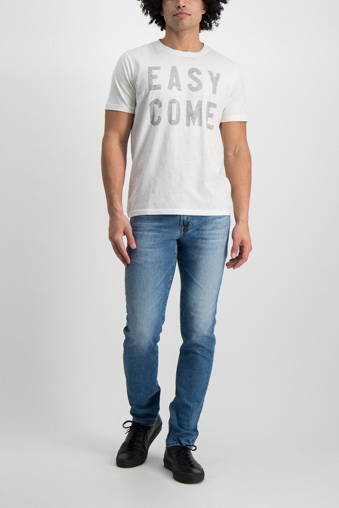 Full Body Image Of Model Wearing Sol Angeles Easy Come Crewneck White