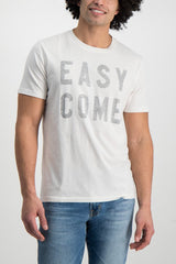 Front Crop Image Of Model Wearing Sol Angeles Easy Come Crewneck White