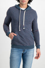 Front Crop Image Of Model Wearing Image Of Sol Angeles Monterey Stripe Hoodie Jasper