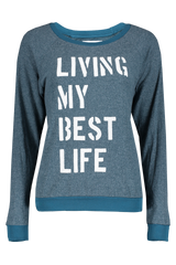 Front view image of Sol Angeles Women's Best Life Pullover Sweater