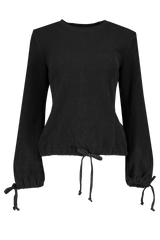 Front view image of Sol Angeles Women's Corded Mineral Tie Sleeve Pullover