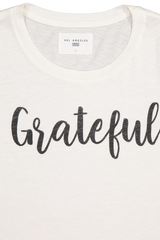 Neckline and logo detail image of Sol Angeles Women's Grateful Crewneck Tee