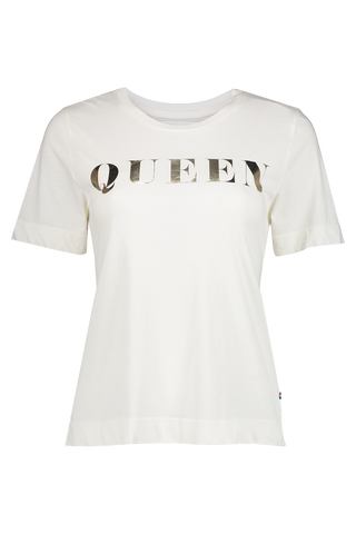 Front view image of Sol Angeles Women's Queen Wide Hem Graphic Tee