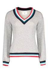 Front view image of Sol Angeles Women's Sol Flag Roma V-Neck Pullover