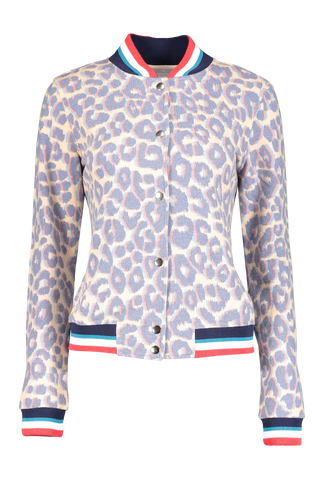 Front view image of Sol Angeles Women's Sol Leopard Bomber