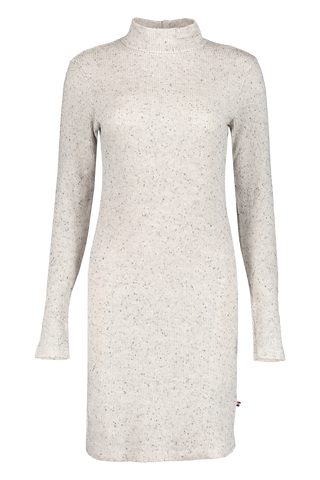 Front view image of Sol Angeles Women's Speckled Thermal Turtleneck Dress