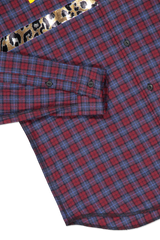 Hemline and cuff detail image of Sold Out Long Sleeve Plaid Divine Comedy Shirt