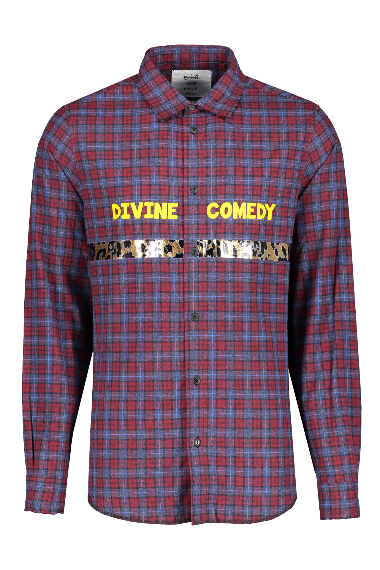 Front view image of Sold Out Long Sleeve Plaid Divine Comedy Shirt