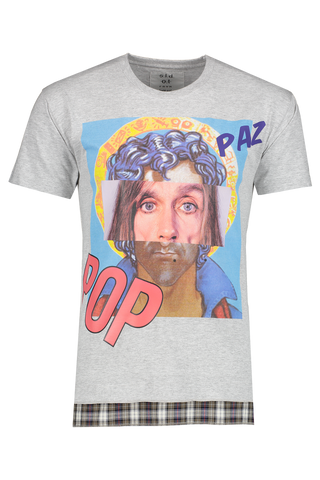 Front view image of Sold Out Short Sleeve Crewneck Paz Pop T-Shirt