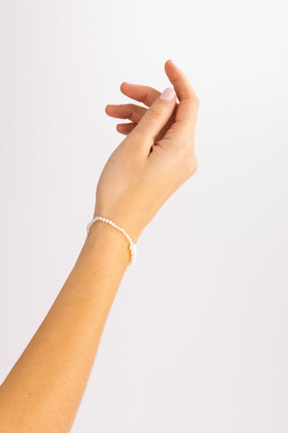 Petite Peggy 14K Yellow Gold & Freshwater Pearl Bracelet