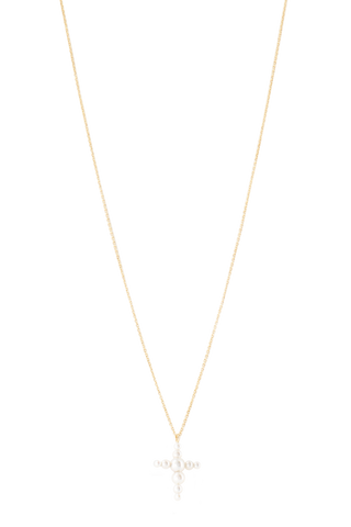 Front image of Sophie Bille Brahe Fellini Croix Necklace