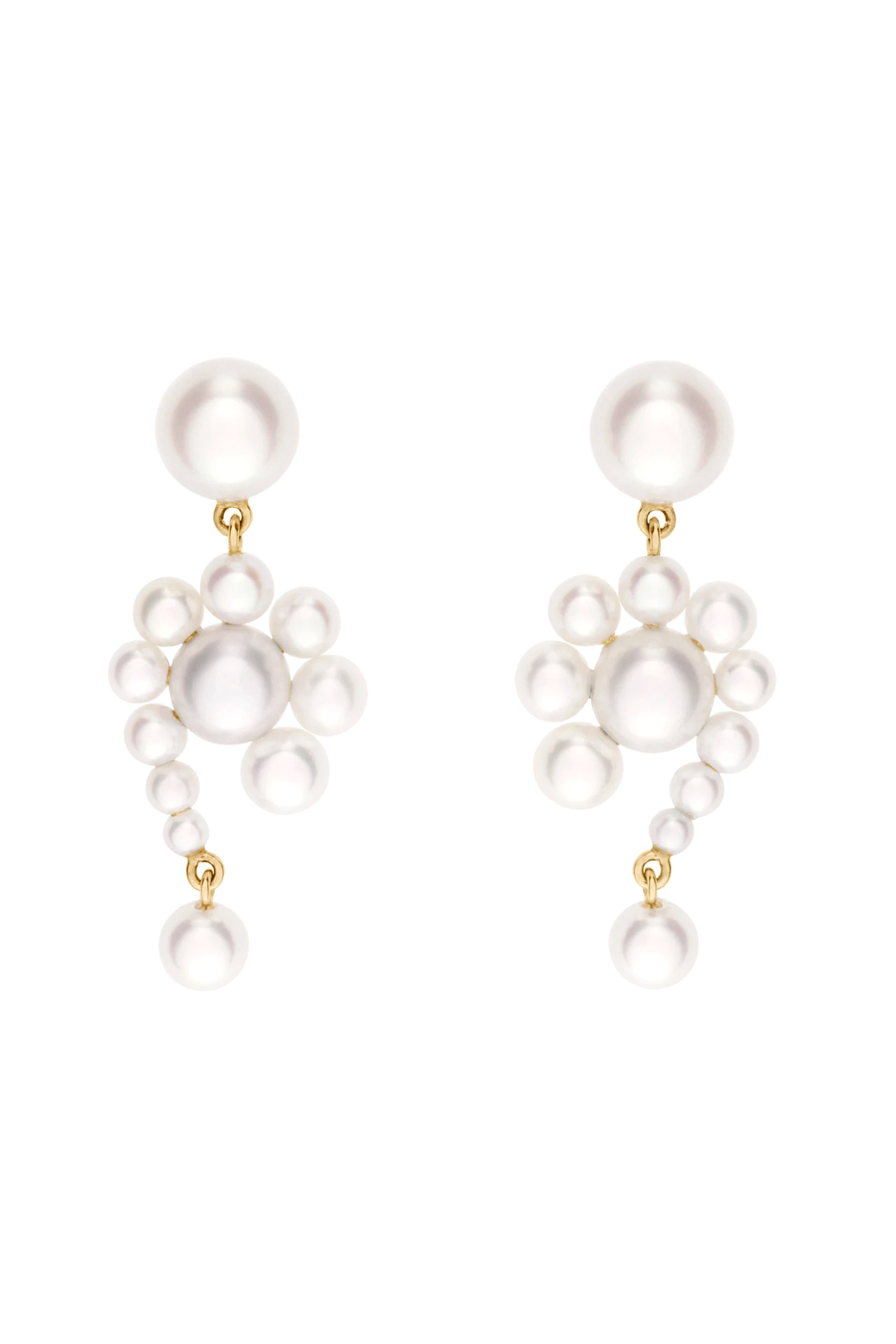 Escargot Perle 14K Pearl Earrings