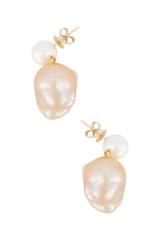 Venus 14K Yellow Gold & Freshwater Pearl Earrings