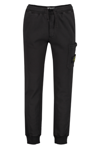 Front Image of Stone Island Black Fleece Pants