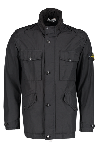 Front Image of Stone Island Black Jacket