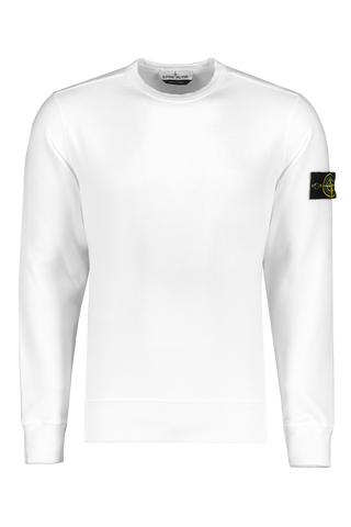 Front image of Stone Island Brushed Cotton Fleece Crewneck Natural