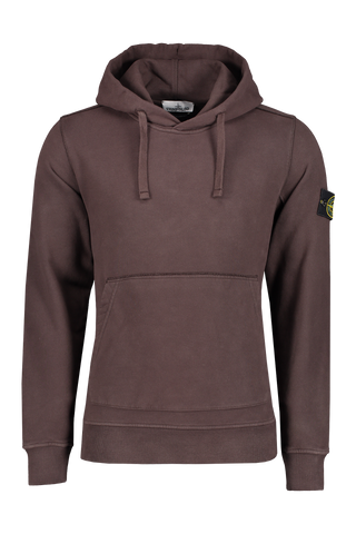 Stone Island Front Image Brushed Cotton Fleece Hoodie