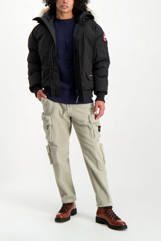 Full Body Image Of Model Wearing Image Of Stone Island Casual Cargo Pant Sand