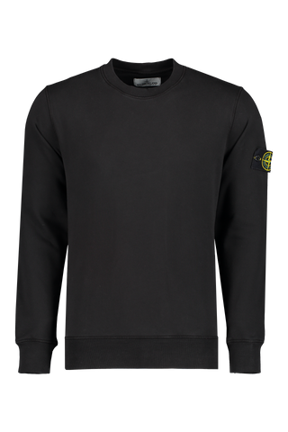 Front Image of Stone Island Fleece Sweatshirt Black