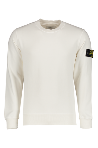 Front Image of Stone Island Fleece Sweatshirt Ivory