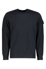 Fleece Crewneck Sweatshirt Navy Blue