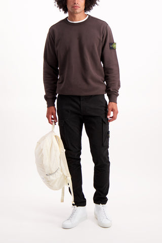 Full Body Image Of Model Wearing Gabardine Stretch Cargo Pant