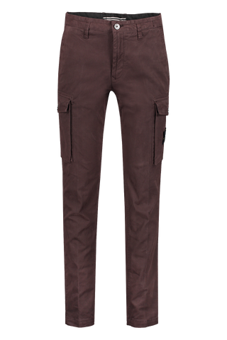 Front view image of Stone Island Gabardine Stretch Cargo Pant Dark Brown