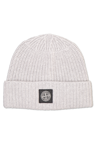 Front image of Stone Island Geelong Wool Beanie Grigio