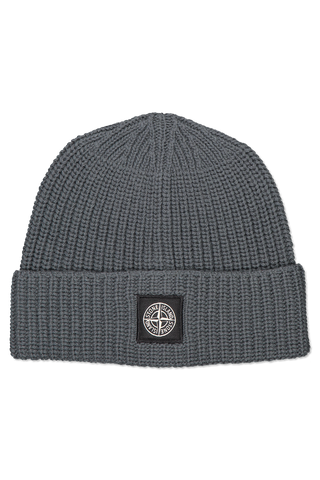 Front image of Stone Island Geelong Wool Beanie Petrol