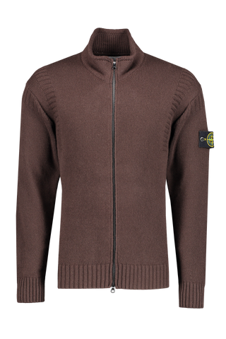 Stone Island Front Image Geelong Wool Full Zip Knit