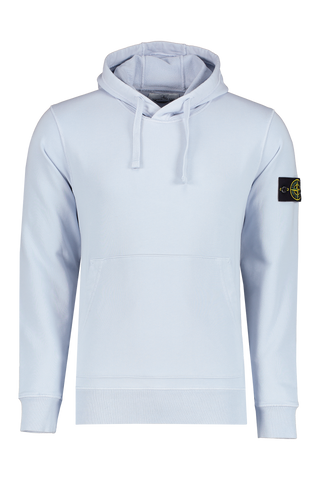 Front view image of Stone Island Hoodie Sky Blue