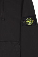 Patch Detail Image of Stone Island Hooded Sweatshirt Black