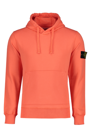 Front Image of Stone Island Hooded Sweatshirt Orange Red
