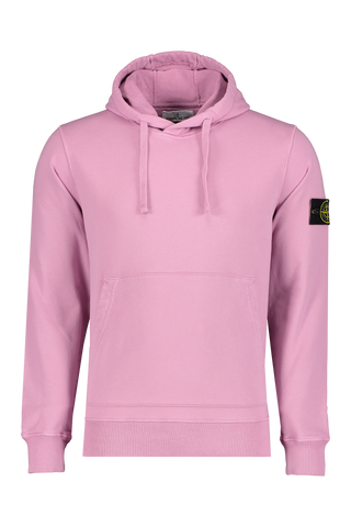 Front Image of Stone Island Hooded Sweatshirt Rose Quartz