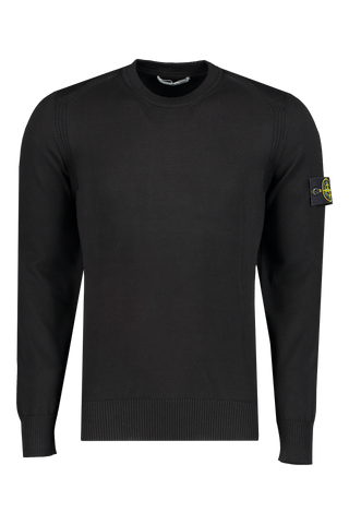 Front Image of Stone Island Long Sleeve Knit Black