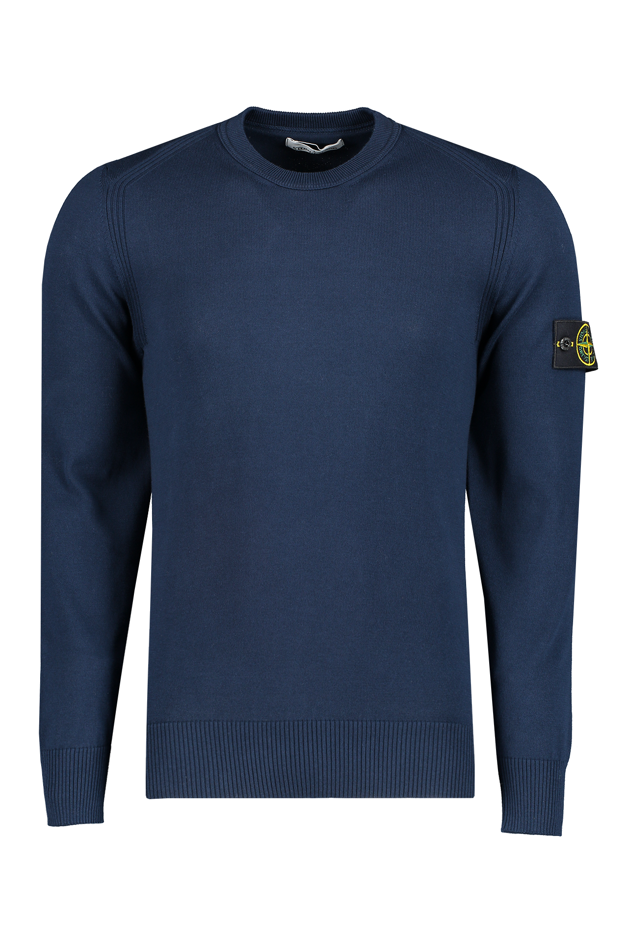 Front Image of Stone Island Long Sleeve Knit Blue Marine