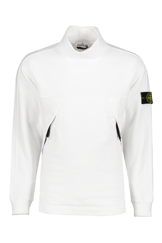 Front image of Stone Island Mock Neck Sweatshirt Natural