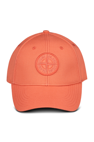 Front view image of Stone Island Orange Red Hat