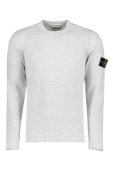 Front Image of Stone Island Pearl Grey Knit