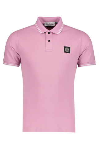 Front Image of Stone Island Polo Shirt Rose Quartz