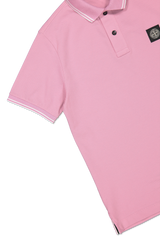 Sleeve Detail Image of Stone Island Polo Shirt Rose Quartz