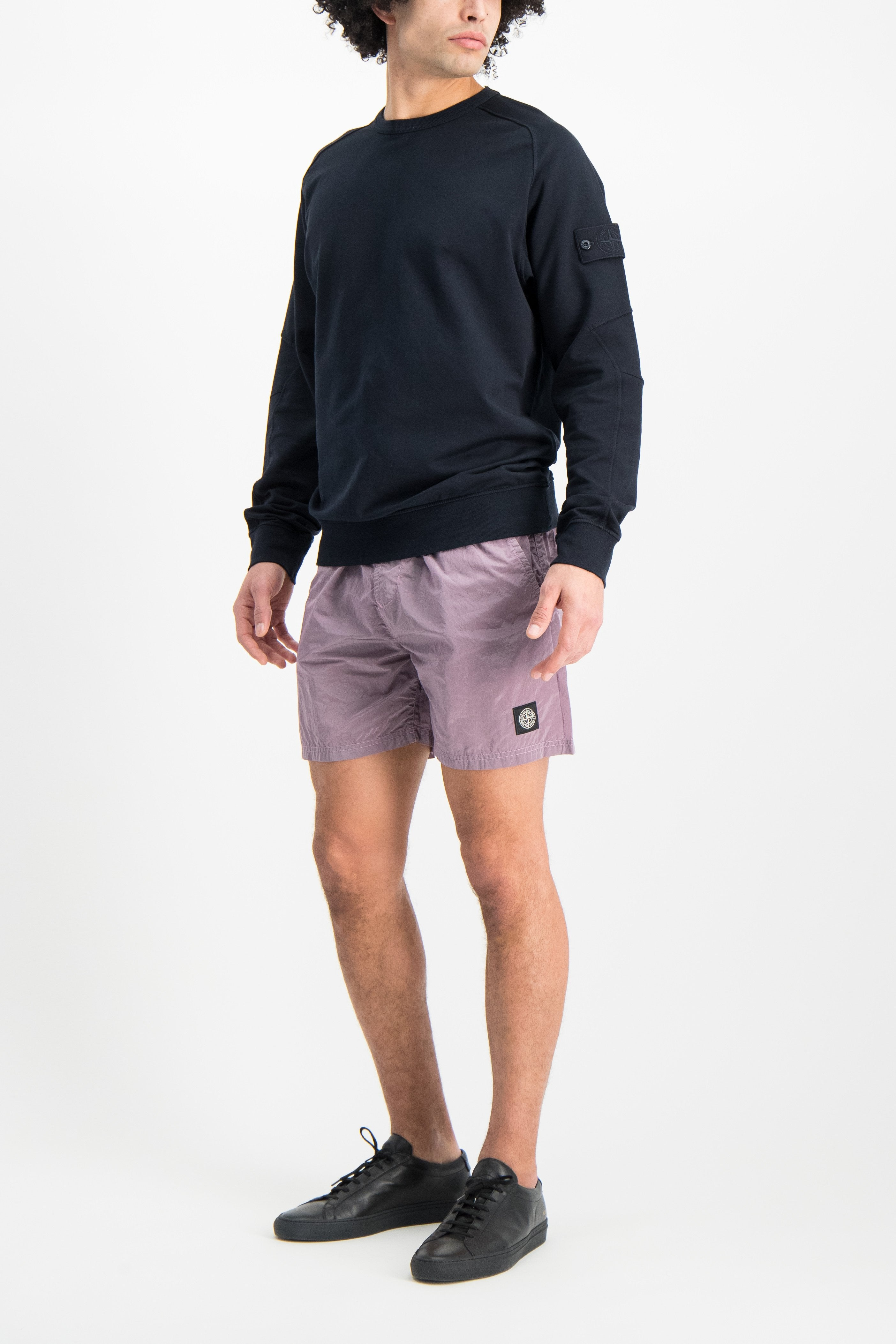Full Body Image Of Model Wearing Casual Short Rose Quartz