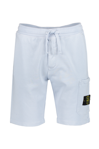 Front Image of Stone Island Sky Blue Fleece Short