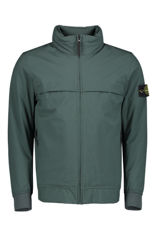 Front view image of Stone Island Soft Shell Jacket Primaloft Insulation Green