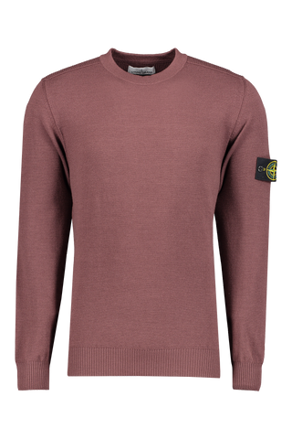 Stone Island Front Image Stretch Wool Crewneck