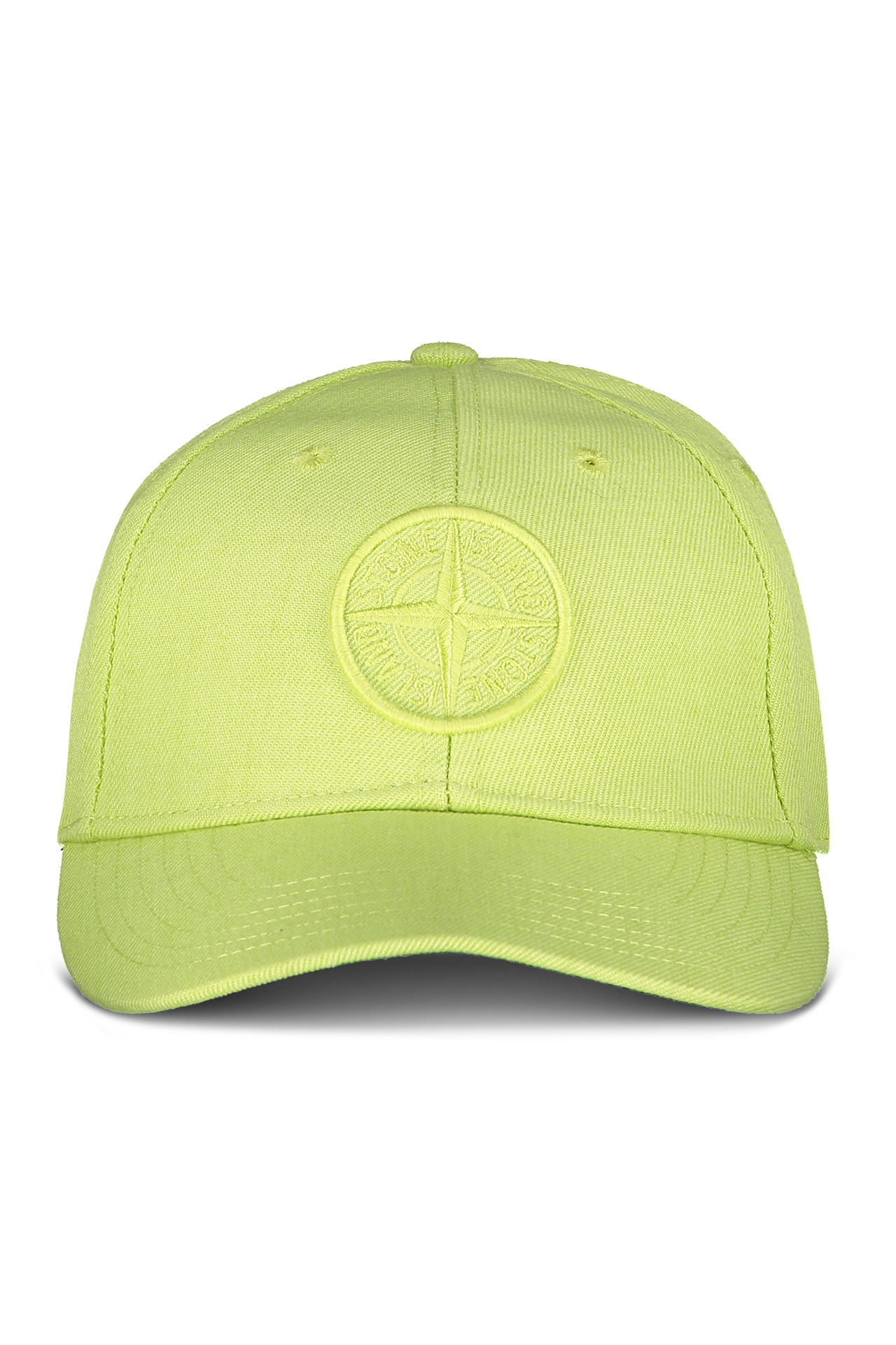 Front View of Stone Island Pistachio Hat with Logo
