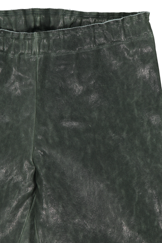 Waistline detail image of STOULS Carolyn Vegetal Leather Pant Oxyde