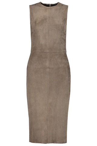 Front image of STOULS Eva Suede Dress
